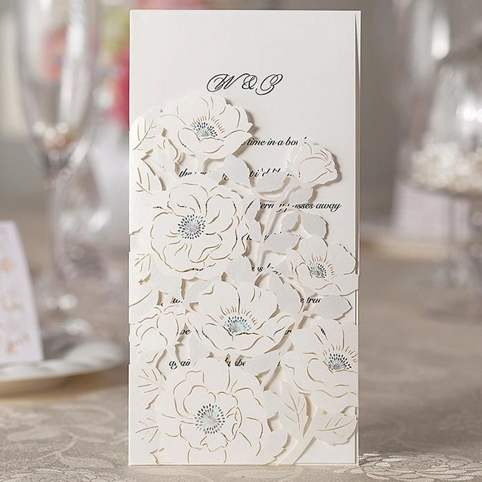 wedding invitation printing malaysia%0A Laser Cut Paper Flower Patterns Free Customized Printing Handmade Wedding  Invitations Cards   PCS Free Shipping