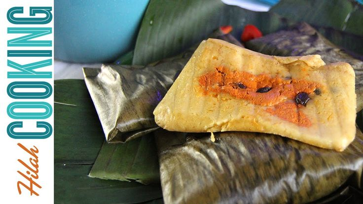 Guatemalan tamales are large packets of masa, tomato recado and meat wrapped in banana leaves. They are typical of a Guatemalan Christmas