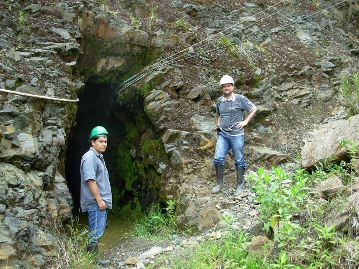 Entrance to the one of the most important Emerald mines in the World. — with Javier Gonzalez and Lee Wasson in Boyaca, Colombia.