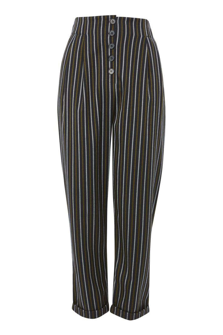 Striped Tapered Trousers - New In Fashion - New In - Topshop
