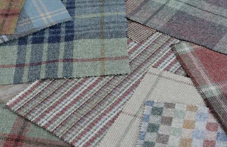 Tartan Wood Tweed Fabrics