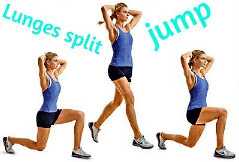 Lunges split jump training... Hop Step Jump!