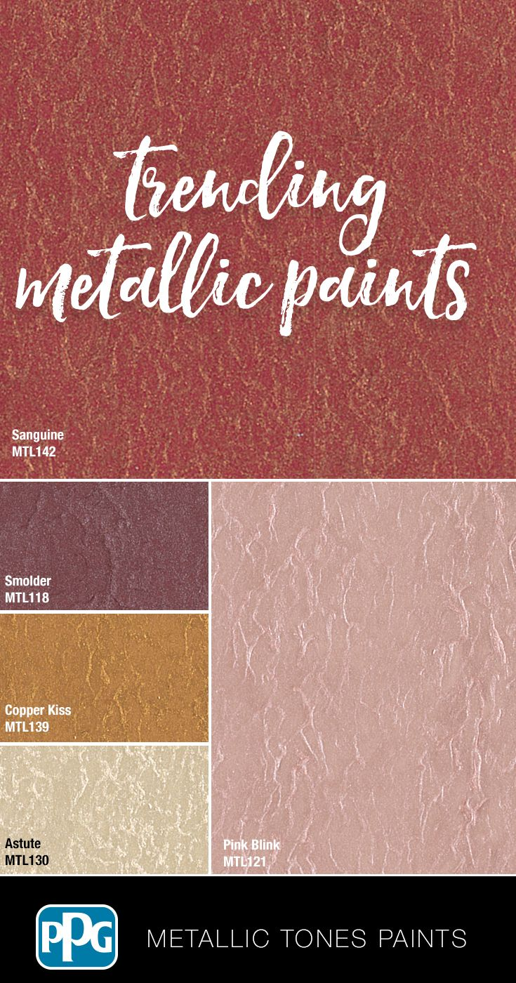 Metallic Tones Interior Metallic Paint Walls Wall Color Schemes Wall Paint Colors