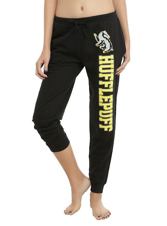 Harry Potter Hufflepuff Girls Jogger Pants, BLACK