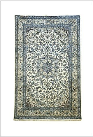 Lovely Persian Naien 1 rug for sale in Melbourne.   Persian Traditional Collection - finest of Naiens, signed to master weavers Studios Habibian select kork wool pile fine grade silk highlights soft decorative colours classical design. POA.  #Melbourne #rugs #online #persian #naine #store #shop #woventreasuresrugs