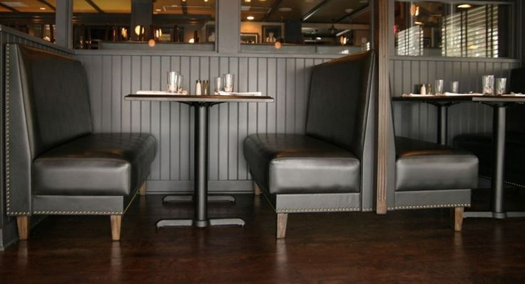 Booth banquette seating solutions free standing and for Built in booth