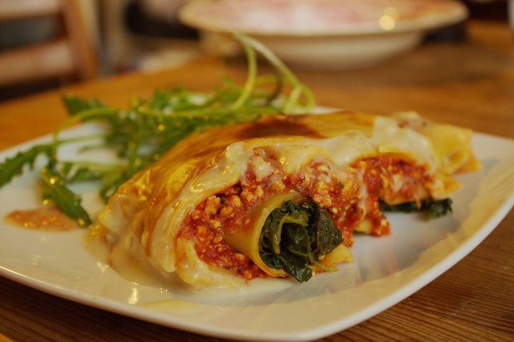 Spinat Lasagne vegan und glutenfrei