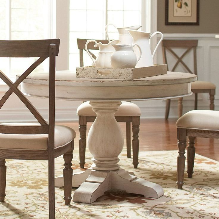 25 best ideas about round dining room tables on pinterest round dining tables round dinning - Pedestal kitchen table set ...