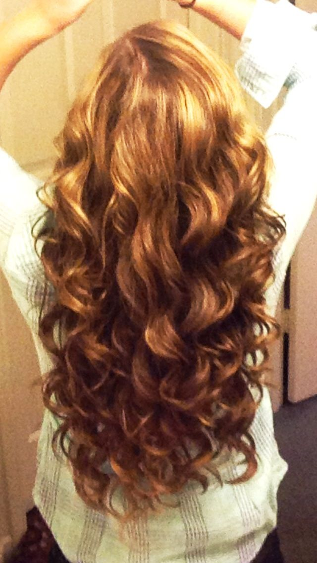 Love long loose curls... maybe pin some back for half up/down look