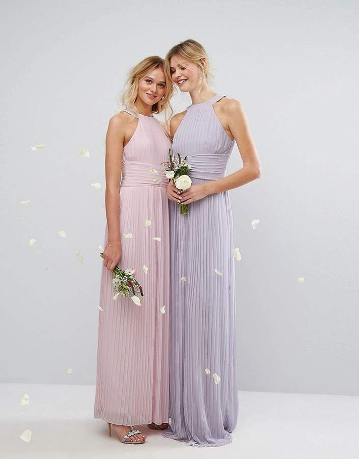 76ae2c1e7621 TFNC Tall High Neck Pleated Maxi Bridesmaid Dress #High#Neck#TFNC ...
