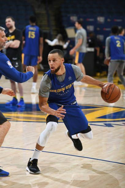 59095899d Stephen Curry of the Golden State Warriors dribbles the ball during practice  and media availability as part of the 2018 NBA Finals on June 2 2018 at.