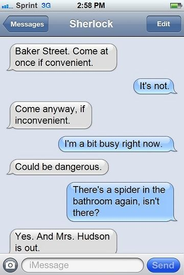 No words can express how much i laughed about Sherlock being afraid of spiders.