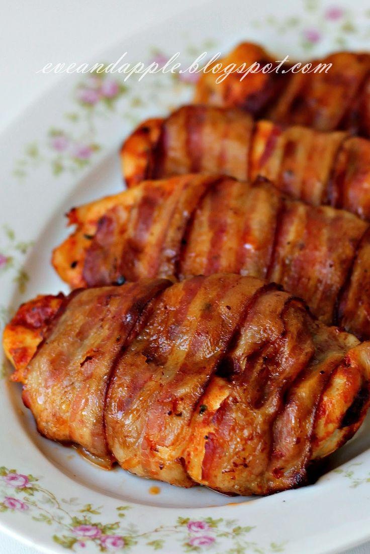 Eve and Apple: Bacone göngyölt paradicsomos-fokhagymás csirkemell...