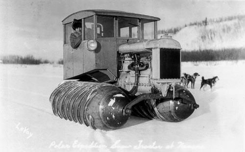 Looks like a Fordson snow motor conversion on a tractor with a custom cab. HAMB