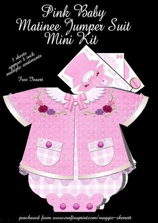 Pink Baby Matinee Jumper Suit on Craftsuprint - Add To Basket!