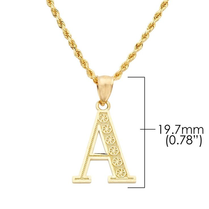 Details about  /10k or 14k Yellow Gold Diamond Script Letter U Initial Pendant Charm