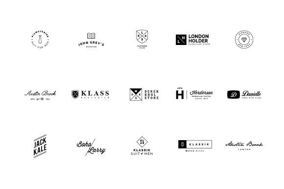 45 Minimalist Logos by vuuuds on @creativemarket