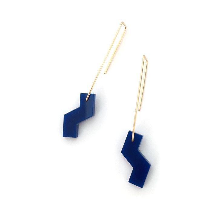 Cali Hanging Earrings   Cobalt