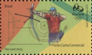 Sello: Archery (Brasil) (Rio 2016 Olympic and Paralympic Games Series) Mi:BR 4203,WAD:BR015.15,RHM:BR C-3432