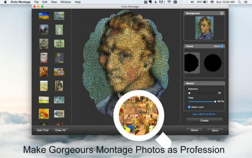 iFoto Montage - Easy Mosaic Photo Maker Photography Graphics...: iFoto Montage - Easy Mosaic Photo… #mac #Photography #GraphicsampDesign
