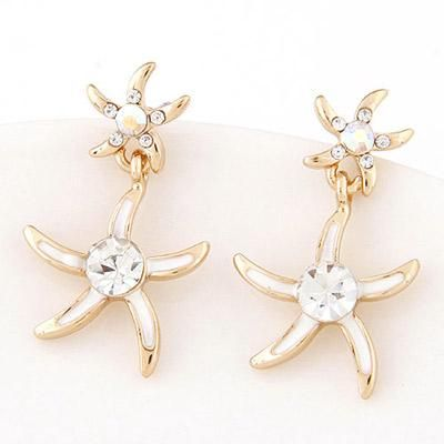 podotukushop_T6EA5E Anting Tusuk diamond decorated starfish