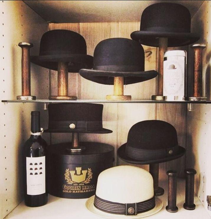 Very creative way to organize hats and caps!   Tags: hat rack, hat organization, coat rack, DIY hat display, DIY coat rack, DIY hat rack