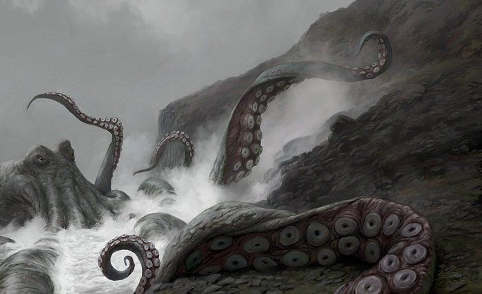 Kraken, most terrifying of all sea monsters, echoes of the primordial Old God who preferred to ...