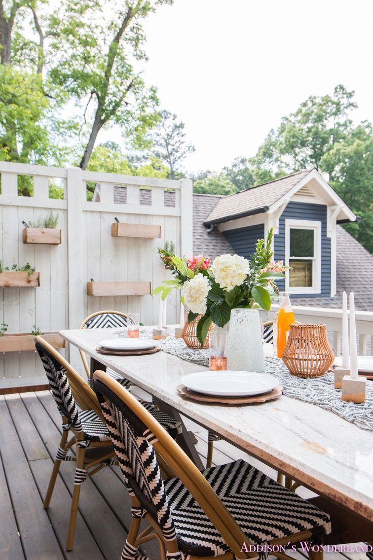 outdoor dining table decor the