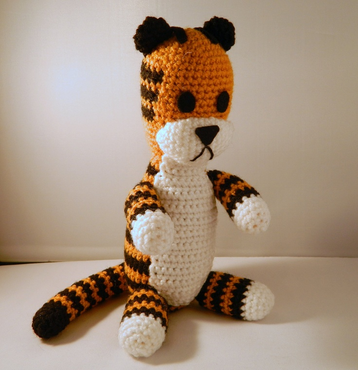 Hobbes the tiger plush doll version crochet amigurumi ( Calvin and Hobbes ) Calvin minus Hobbes. £30.00, via Etsy.