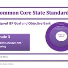 REVISED - PDF VERSIONS NOW INLCUDED!  My Common Core Aligned IEP Goal and Objective Bank Primary Grades K-3 is an ESSENTIAL tool for primary specia...