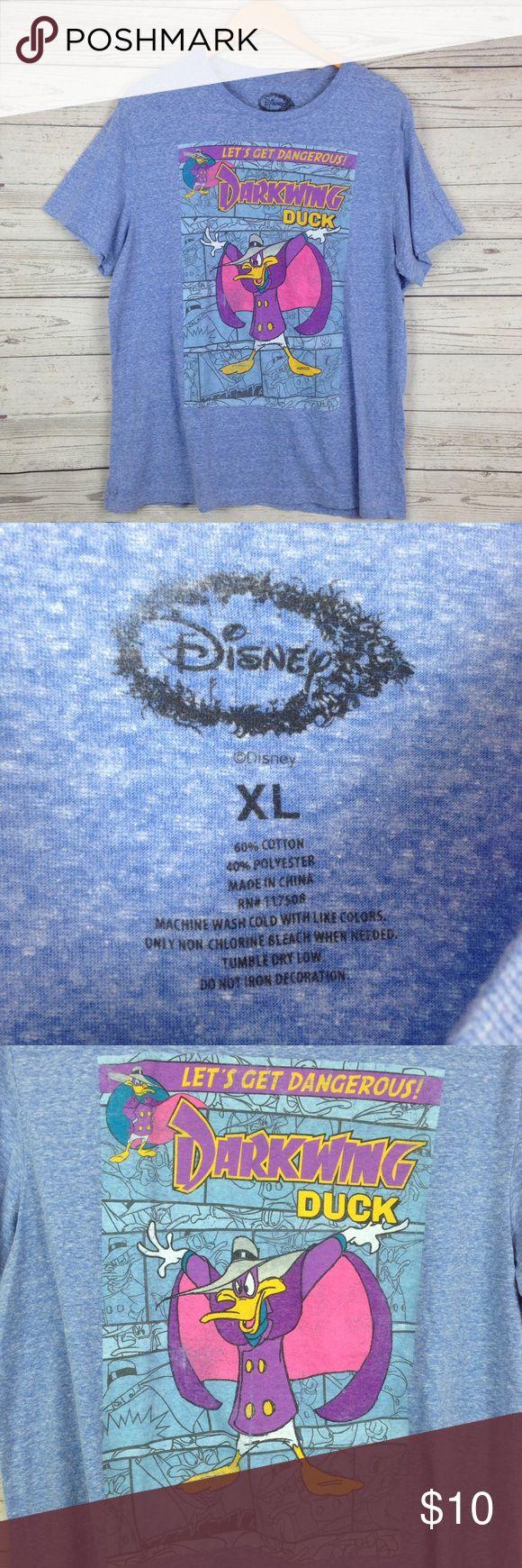 Dark wing duck Disney t shirt blue women's XL Size Xl. Has a little piling from wear Disney Tops Tees - Short Sleeve