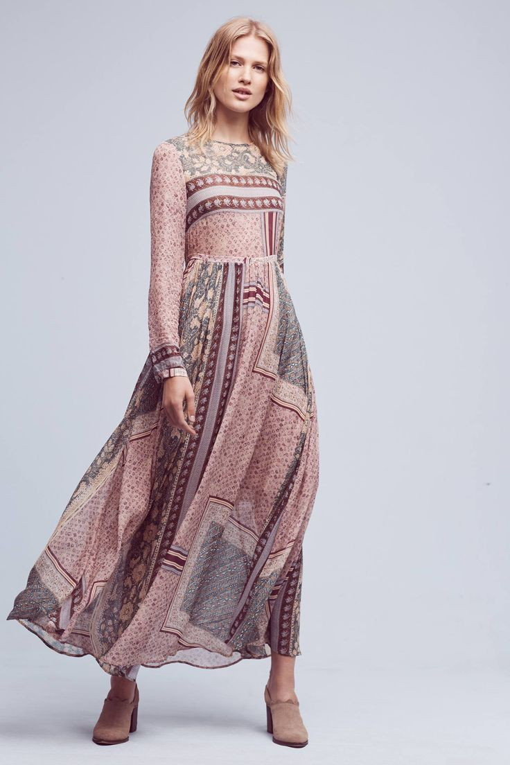 443 best love this images on pinterest free for Anthropologie mural maxi dress