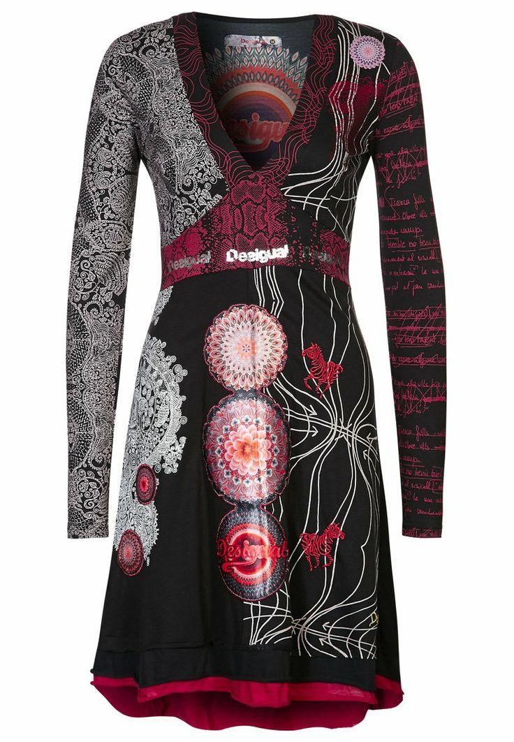 Desigual - TIBET - Robe en jersey - noir (Ottobre 5/2013)