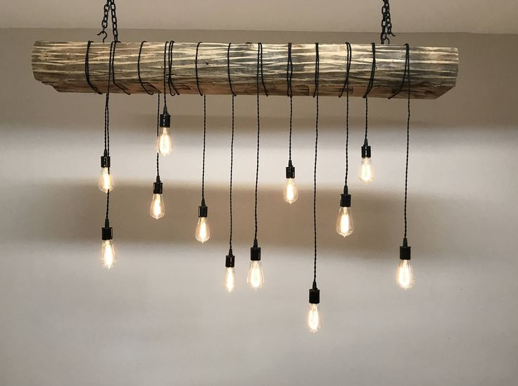 reclaimed barn sleeper beam wood light fixture with led edison bulbs rustic industrial chandelier lighting 400