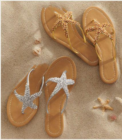 Sandalias con estrella. ¡Me encantan!