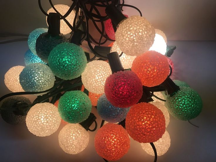 Lot of 33 Working Lighted Vintage Christmas Tree Snowball Ice Lights