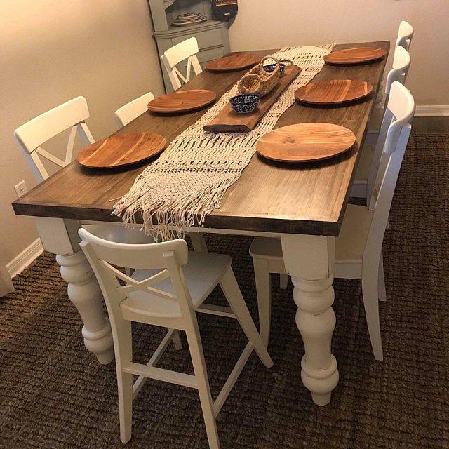 Knotty Pine Curvy Chunky Farmhouse Dining Table Legs 5 Etsy In 2020 Farmhouse Table Legs Dining Table Legs Farmhouse Dining Table