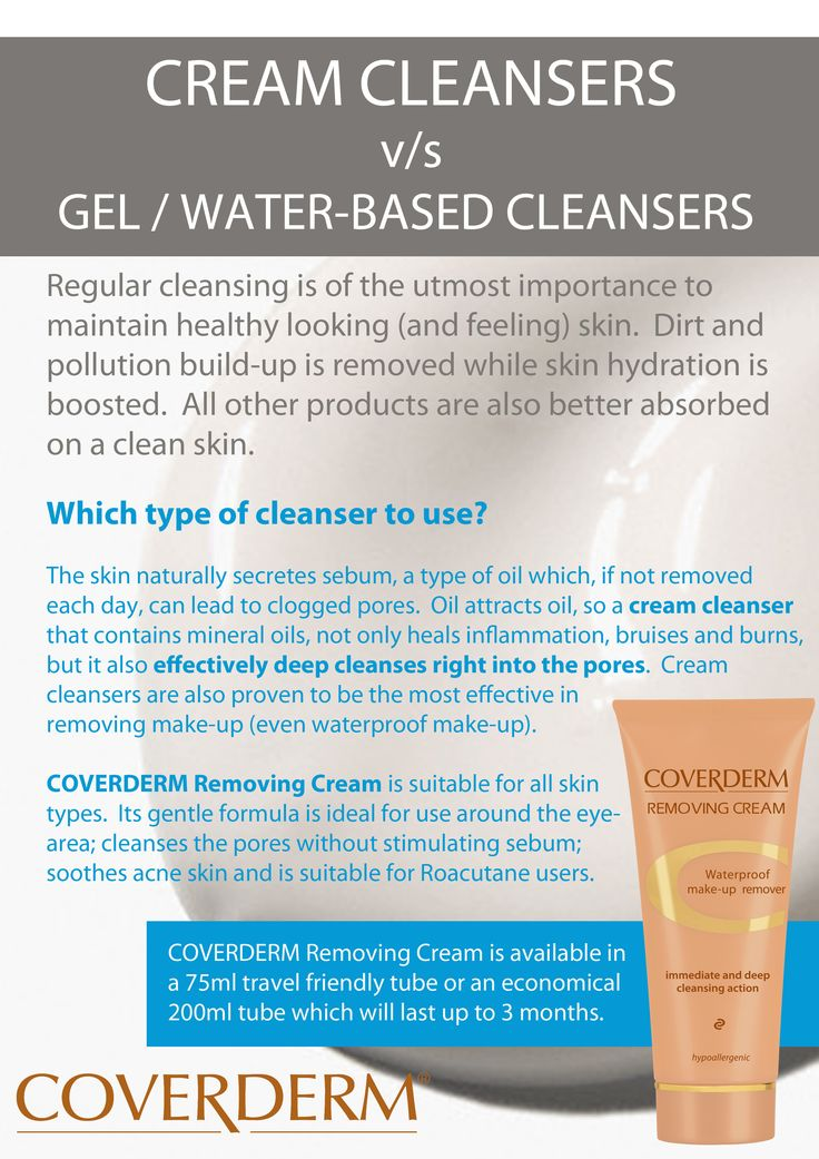 Cream cleansers v/s gel / water-based cleansers