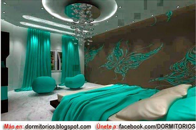 Dormitorios fotos de dormitorios im genes de habitaciones - Color turquesa en paredes ...