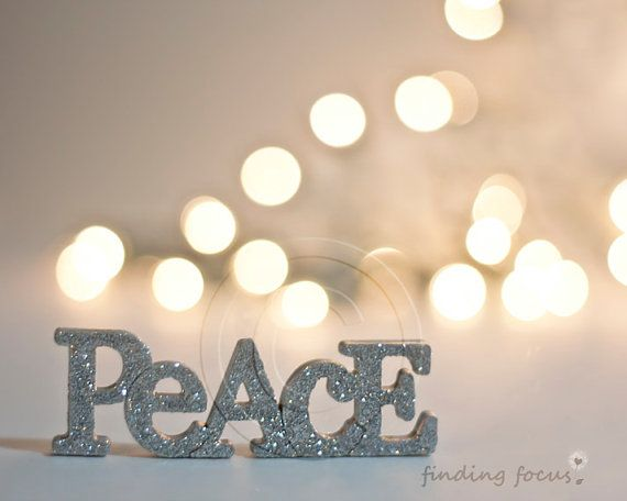 peace photo silver gold christmas champagne holiday lights golden natural pale decor bokeh glitter light word art calm neutral photography on etsy - Silver Christmas Lights