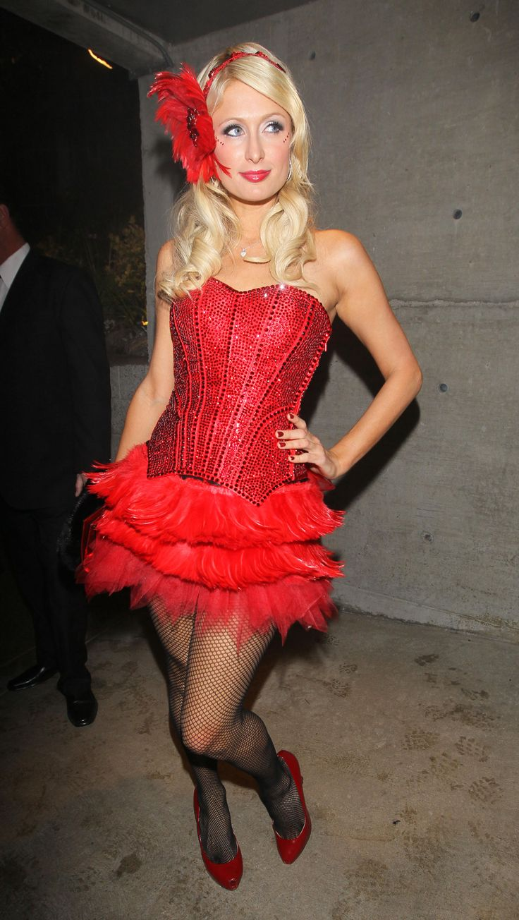 Paris Hilton Red Burlesque Clothing La Luis