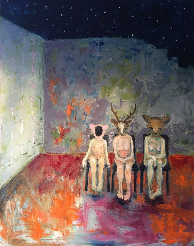 Waiting patiently, 2016 Oil on canvas Anu Pensola
