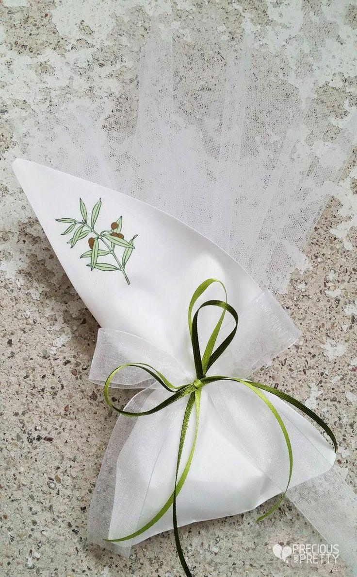 Greek wedding favors olive leaves G109