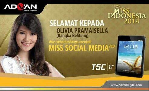 Gadis Sampul 2011 & Miss Social Media 2014 (Olivia Pramaisella)
