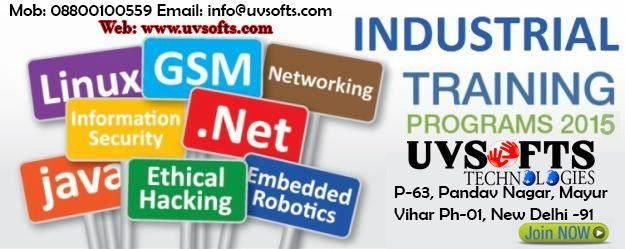 UVSofts Technologies is providing industrial training for all IT or non IT students who want to learn and enhance their technical skills. So join us and do registration as soon as ..WE HAVE LIMITED VACANCIES.