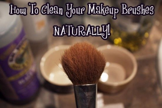 How to clean make up brushes naturally