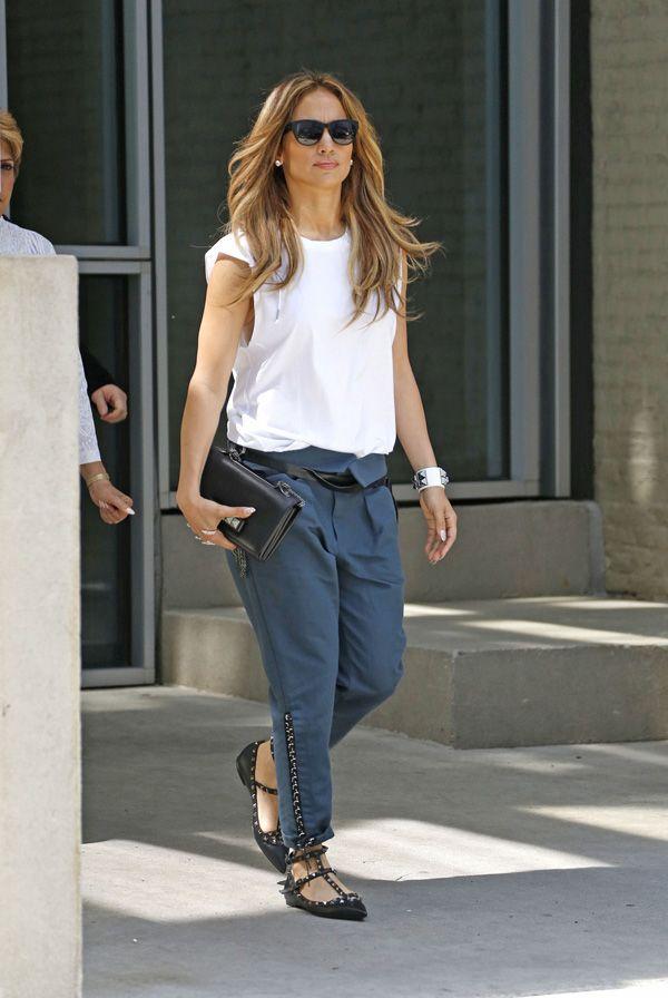 Jennifer Lopez seen leaving her apartment in New York City