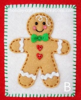 felt gingerbread boy...inedible, but oh so adorable