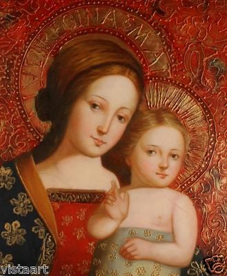 Oil Painting  Madonna and Child