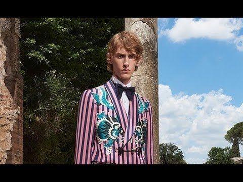 Коллекция одежды от Gucci для мужчин 2018 года.